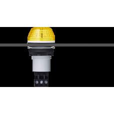 IBS светодиодный маячок с постоянным/мигающим светом и креплением на панели M22 Желтый серый, 12 V AC/DC