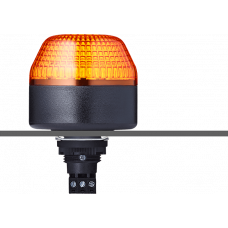 ICL светодиодный маячок с мульти-строб эффектом с креплением на панели M22 Оранжевый 230-240 V AC, черный