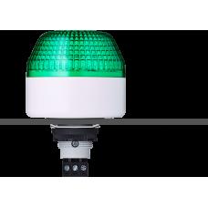 IBL светодиодный маячок с постоянным/мигающим светом и креплением на панели M22 Зеленый 110-120 V AC, серый