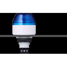 IBM светодиодный маячок с постоянным/мигающим светом и креплением на панели M22 Синий 12 V AC/DC, серый