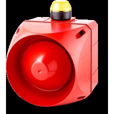 ADX многотональная сирена со встроенным светодиодным индикатором Желтый 24 V AC/DC