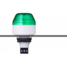 ISM ксеноновый стробоскопический маячок с креплением на панели M22 Зеленый 230-240 V AC, серый