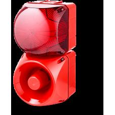Комбинированный свето-звуковой оповещатель ASM+QDM Красный 120-240 V AC, 24 V AC/DC