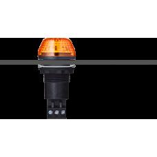ISS светодиодный стробоскопический маячок с креплением на панели М22 Оранжевый 24 V AC/DC, черный