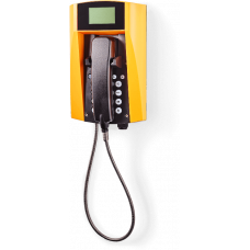wFT3-IP VoIP телефон, всепогодный Желтый Армированный шнур