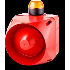 ADL многотональная сирена со встроенным светодиодным индикатором Оранжевый 24 V AC/DC