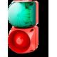 Комбинированный свето-звуковой оповещатель ASL+QDL Зеленый 110-240 V AC/DC, 110-120 V AC