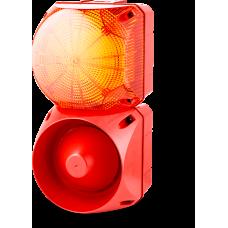 Комбинированный свето-звуковой оповещатель ASL+QBL Оранжевый 24-48 V AC/DC, 110-120 V AC