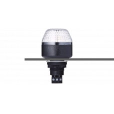 IBM светодиодный маячок с постоянным/мигающим светом и креплением на панели M22 Белый 12 V AC/DC, черный