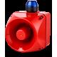 ADM многотональная сирена со встроенным светодиодным индикатором Синий 110-120 V AC