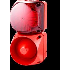 Комбинированный свето-звуковой оповещатель ASL+QBL Красный 24-48 V AC/DC, 24-48 V AC/DC