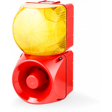 Комбинированный свето-звуковой оповещатель ASM+QFM Желтый 24-48 V AC/DC, 24 V AC/DC