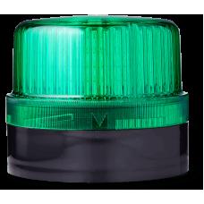 DLG светодиодный маячок постоянного света Зеленый 24 V AC/DC, черный