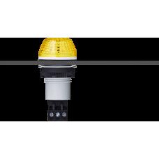 IBS светодиодный маячок с постоянным/мигающим светом и креплением на панели M22 Желтый серый, 230-240 V AC