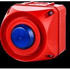 ADS-T многотональная сирена со встроенным светодиодным индикатором Синий 24-48 V AC/DC