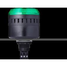 ELG сирена с креплением на панели с контрольным светодиодом Зеленый 12 V AC/DC, черный