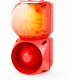 Комбинированный свето-звуковой оповещатель ASL+QDL Оранжевый 24-48 V AC/DC, 24-48 V AC/DC