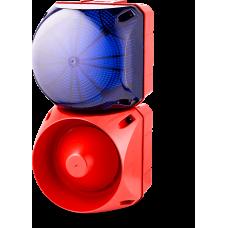 Комбинированный свето-звуковой оповещатель ASL+QDL Синий 24-48 V AC/DC, 24-48 V AC/DC