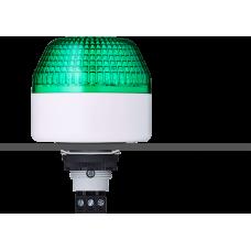 IBL светодиодный маячок с постоянным/мигающим светом и креплением на панели M22 Зеленый 12 V AC/DC, серый