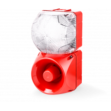 Комбинированный свето-звуковой оповещатель ASM+QFM Белый 110-120 V AC, 24-48 V AC/DC