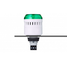 ELM сирена с креплением на панели с контрольным светодиодом Зеленый 24 V AC/DC, серый