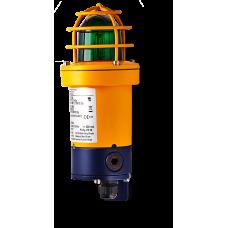 dSF взрывозащищенный ксеноновый стробоскопический маячок Зеленый 15 Дж, 110-120 V AC