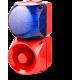 Комбинированный свето-звуковой оповещатель ASM+QDM Синий 120-240 V AC, 120-240 V AC