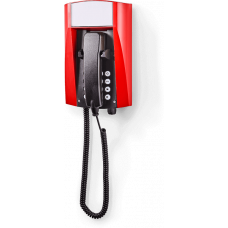 wFT3 аналоговый телефон, всепогодный Красный Спиральный шнур, С клавиатурой, Без дисплея