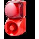 Комбинированный свето-звуковой оповещатель ASM+QDM Красный 120-240 V AC, 24-48 V AC/DC