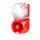 Комбинированный свето-звуковой оповещатель ASM+QDM Белый 120-240 V AC, 24 V AC/DC
