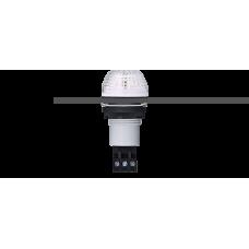 IBS светодиодный маячок с постоянным/мигающим светом и креплением на панели M22 Белый серый, 24 V AC/DC