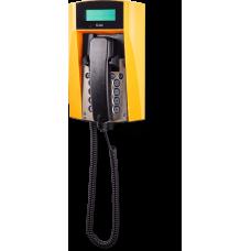 dFT3 взрывозащищенный аналоговый телефон Желтый Спиральный шнур, С дисплеем