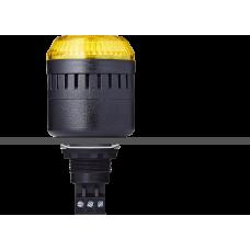ELM сирена с креплением на панели с контрольным светодиодом Желтый 12 V AC/DC, черный