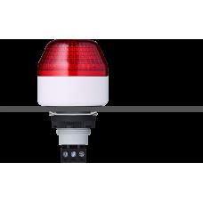 ICM светодиодный маячок с мульти-строб эффектом с креплением на панели M22 Красный 24 V AC/DC, серый