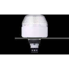 IBL светодиодный маячок с постоянным/мигающим светом и креплением на панели M22 Белый 24 V AC/DC, серый