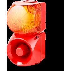 Комбинированный свето-звуковой оповещатель ASM+QDM Оранжевый 24-48 V AC/DC, 120-240 V AC
