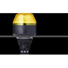 IBM светодиодный маячок с постоянным/мигающим светом и креплением на панели M22 Желтый 230-240 V AC, черный