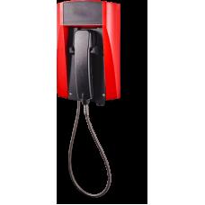 wFT3 аналоговый телефон, всепогодный Красный Армированный шнур, Без дисплея, Без клавиатуры