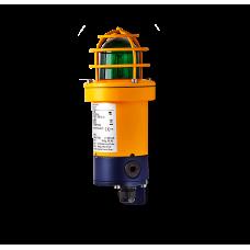 dSF взрывозащищенный ксеноновый стробоскопический маячок Зеленый 15 Дж, 24 V DC