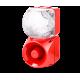 Комбинированный свето-звуковой оповещатель ASM+QDM Белый 120-240 V AC, 24-48 V AC/DC