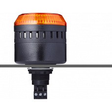EDG сирена с креплением на панели с контрольным светодиодом Оранжевый 24 V AC/DC, черный