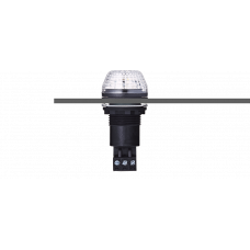 IBS светодиодный маячок с постоянным/мигающим светом и креплением на панели M22 Белый 110-120 V AC, черный