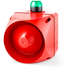 ACX многотональная сирена со встроенным светодиодным индикатором Зеленый 24 V AC/DC