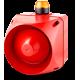 ADX многотональная сирена со встроенным светодиодным индикатором Оранжевый 24 V AC/DC