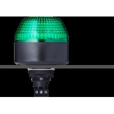 IBL светодиодный маячок с постоянным/мигающим светом и креплением на панели M22 Зеленый 24 V AC/DC, черный
