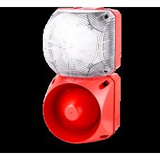 Комбинированный свето-звуковой оповещатель ASL+QDL Белый 24-48 V AC/DC, 110-120 V AC