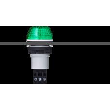 IBS светодиодный маячок с постоянным/мигающим светом и креплением на панели M22 Зеленый серый, 110-120 V AC