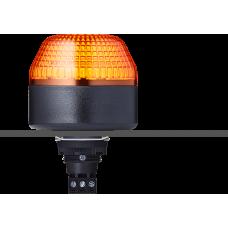 IBL светодиодный маячок с постоянным/мигающим светом и креплением на панели M22 Оранжевый 24 V AC/DC, черный