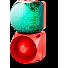 Комбинированный свето-звуковой оповещатель ASL+QDL Зеленый 24-48 V AC/DC, 24-48 V AC/DC