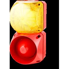 Комбинированный свето-звуковой оповещатель ASL+QBL Желтый 110-240 V AC/DC, 24-48 V AC/DC